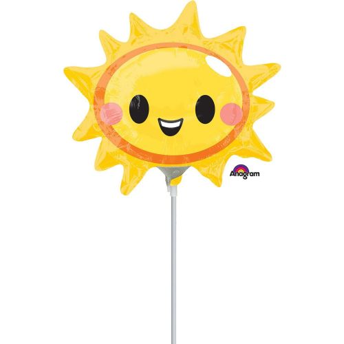 Happy Sun Face Mini Shape Flat